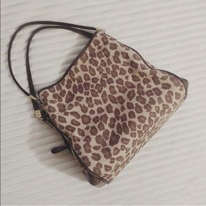 Coach Leopard Tote tan cheetah purse